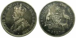 World Coins - AUSTRALIA.Geoge V.AR.Florin 1917m.