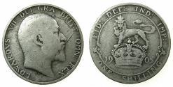 World Coins - ENGLAND.Edward VII 1901-1910.AR.One Shilling1905. ***  KEY DATE***