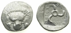 Ancient Coins - Dynasts of LYCIA.Aruvatijesi circa 390-370 BC.AR.Tetrobol. **** Extremely rare dynast****