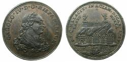 World Coins - SPAIN.Charles IV 1788-1808.AE.Proclamation medal 1789.MALAGA.