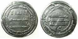 World Coins - ABBASID CALIPHS. al-Mansur 136-158H ( AD 754-775 ).AR.Dirhem.dated 148H. Mint: Medinat al Salam ( City of Peace )