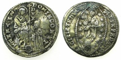World Coins - VENICE.Domenico Contarini AD 1659-1675.Levantine struck copy of a Zecchino. guilded, pale gold?over base core.