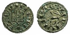 World Coins - SPAIN.CASTILE AND LEON.Ferdinand IV AD 1295-1312.Billon.Dineros blancos ( or Novenes ).Mint of SEVILLE.