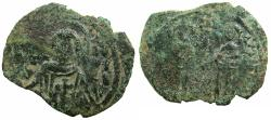 Ancient Coins - BYZANTINE EMPIPRE.Andronicus II and Michael IX AD 1294-1320.AE.Assarion Class XII..Mint of CONSTANTINOPLE.