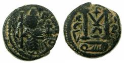 Ancient Coins - ARAB BYZANTINE Anonymous 7th cent AD AE Fals. Damascus mint.