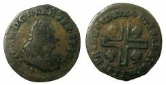 World Coins - ITALY.SARDINIA.Victorrio Amadeo II AD 1675-1730.AE.Cagliarese 1724.Mint of TURIN ' The first duke of Savoy to become King of Sardinia '