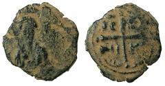 World Coins - CRUSADER STATES.Principality of Antioch.Tancred AD 1104-1112.AE.Follis.2nd type.Bust of Tancred.