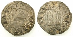 World Coins - SPAIN.CASTILE AND LEON.Alfonso X 1252-1284.Bi.Denaro.Leon mint.