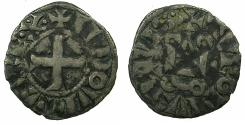 World Coins - FRANCE.ROYAL.Louis IX AD 1245-1270. Billon Denier Tournois.