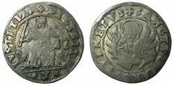 World Coins - ITALY.VENICE.Anonymou (Alvise I Moncenigo AD 1570-1577).AR.10 Gazzetta. Issued by decree 5th Jan.1571