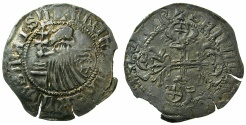 World Coins - RHODES.Philibert De Naillac AD 1396-1421.AR.Gigliato.~#~ SANTA CROSE legend.