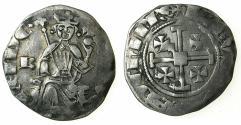 World Coins - CRUSADER STATES.CYPRUS. Hugh IV 1324-1359.AR.Gros Grand.cross at neck, letter B left field, dot end of obverse legend.
