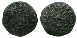 World Coins - SPAIN.CASTILE-LEON, kingdom.John II AD 1406-1454.Billon.Blanca.Mint of BURGOS.