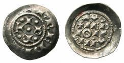 World Coins - ITALY.MILAN.Federico I De Svevia Imperatore e Re D'Italia AD 1152-1190.Denaro Scodellato.