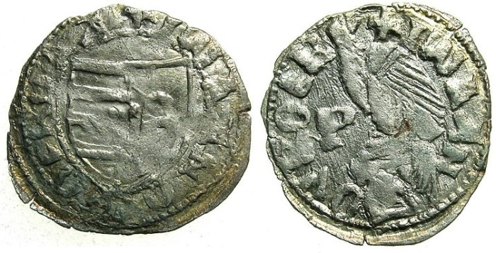Ancient Coins - ROMANIA.VOIVODES OF WALLACHIA.Dan I 1383-1386.Bi.Denier.