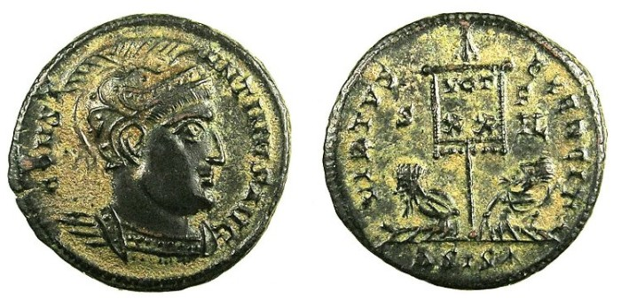 Ancient Coins - ROMAN.Constantine I The Great AD 307-337.AE.Follis.Mint of SISCIA.