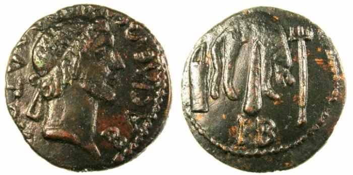 Ancient Coins - BLACK SEA.Kings of Bosporus.Mithradates III c.AD 30/40-44/45.AE.21.Bust of Mithradates.Rev.lion skni over club