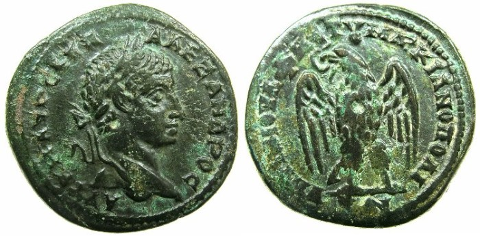 Ancient Coins - MOESIA INFERIOR.MARCIANOPOLIS.Severus Alexander AD 222-235.AE.25.8mm.~#~.Eagle.