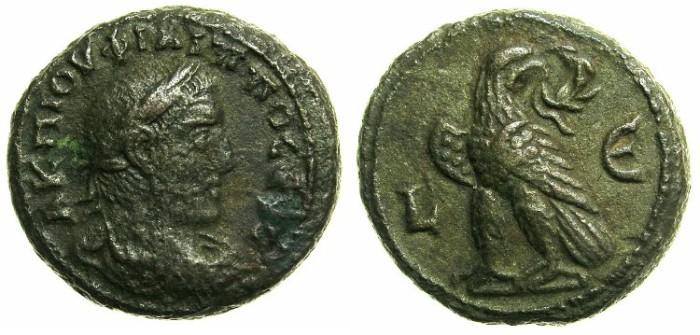 Ancient Coins - EGYPT.ALEXANDRIA.Philip I The Arab AD 244-249.Billon Tetradrachm, struck AD 247/248.~#~.Eagle on thunderbolt.