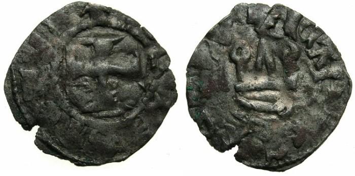 Ancient Coins - CRUSADER STATES.GREECE.EPIRUS.John II Orsini 1323-1335. Bi.Denier.Struckat ARTA.