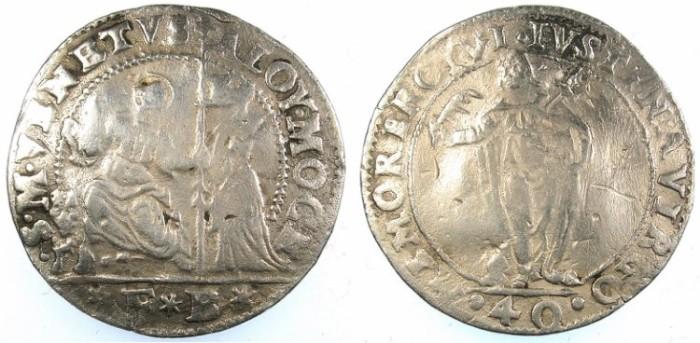 Ancient Coins - ITALY.VENICE.Alvise I Mocenigo 1570-77.40 Soldi
