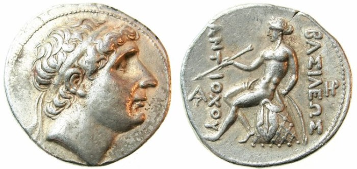 Ancient Coins - SELEUCID EMPIRE.Antiochus I 280-261 BC.AR.Tetradrachm.Mint of SELEUCIA-on-the-Tigris.