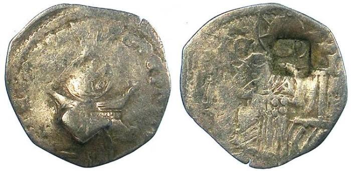 Ancient Coins - SERBIA.Stefan VIII Uros IV Dusan , as Emperor 1346-1355.AR.Dinar~~~Countermark Bird.