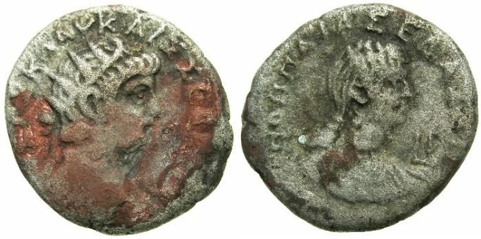 Ancient Coins - EGYPT.ALEXANDRIA.Nero AD 54-68.Billon Tetradrachm.AD 63/64.~#~.Poppaea.