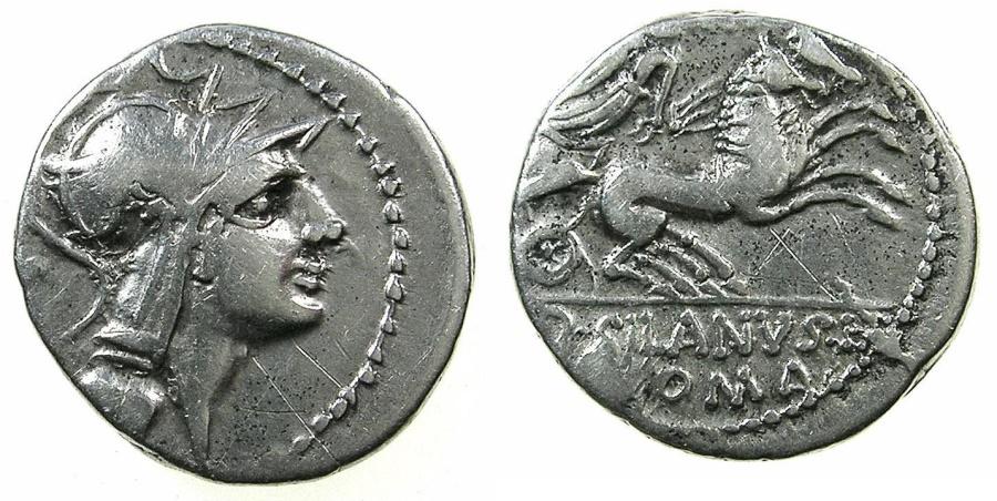 Ancient Coins - ROME.REPUBLIC.D.Silanus L.f 91 BC.AR.Denarius. Mint of ROME.