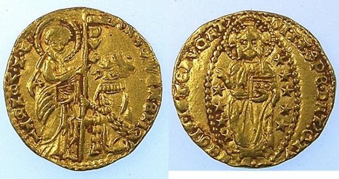 Ancient Coins - ITALY.Venice.Antonio Venier 1382- 1400.AV.Ducato .