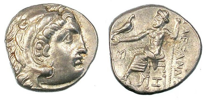 Ancient Coins - MACEDONIA.Alexander III 336-323 BC.AR.Drachma.Abydus mint.Struck 310-297 BC.