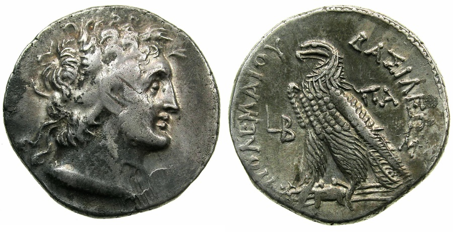 Ancient Coins - PTOLEMAIC EMPIRE.EGYPT.ALEXANDRIA.Cleopatra III and Ptolemy IX Soter II 116-107 BC.AR.Tetradrachm.struck 116/115 BC