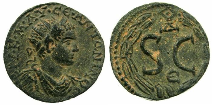 Ancient Coins - SYRIA.SELEUCIS AND PIERIA.ANTIOCH.Elagabalus AD 218-222.AE.20mm.