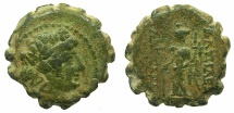 Ancient Coins - SELEUCID EMPIRE.Alexander II 128-123 BC.AE.18.2mm. Mint of ANTIOCH..~#~.Tyche.