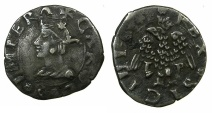 World Coins - ITALY.SICILY.Charles V King of Spain and Naples-Sicily AD 1516-1556, H.R.E. 1519-1556.AR.Mezzo Tari.Mint of PALERMO.