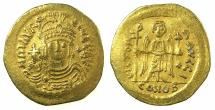 Ancient Coins - BYZANTINE EMPIRE.Maurice Tiberius AD 582-602.AV.Lightweight solidus 4.00g. ( = 23 Siliquae ).Mint of CONSTANTINOPLE.