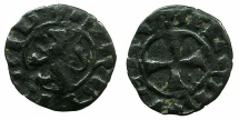 World Coins - CRUSADER STATES.CYPRUS. Janus AD 1398-1432.Billon Denier.