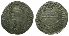 World Coins - ITALY.SAVOY.Carlo I AD 1482-1490.Billon Parpagliola. 2nd issue.