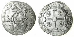 World Coins - CRUSADER STATES.CYPRUS.Hugh IV AD1324-1359.AR.Gros Grand.Privvy mark letter B with pellet above, cross between legs. **Ex Lambros collection **