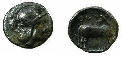 Ancient Coins - LUCANIA.THOUROI.Circa 4th cent BC.AR.Tritartomorion.