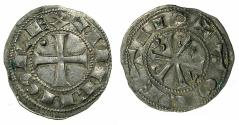 World Coins - SPAIN.Castile and Leon. Alfonso VI 1073-1109.Billon.Dinero.Mint of TOLEDO.