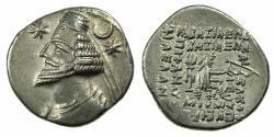 Ancient Coins - PARTHIA.Orodes II 57-38 BC.AR.Drachma.Mint of RHAGAE