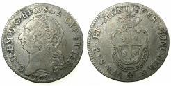 World Coins - ITALY.SARDINIA.Carlo Emanuele III 1730-1773.AR.Quarto de Scudo Sardo.1769.Mint of TURIN.