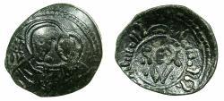 World Coins - ITALY.SICILY.William I AD 1154-1166.AE.Frazione di Follaro. Virgin and Christ child