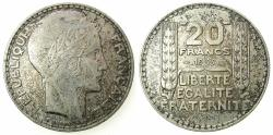 World Coins - FRANCE.REPUBLIC.AR.20 Francs 1933.