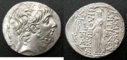Ancient Coins - SELEUCID EMPIRE.SYRIA.Antiochus IX Eusebos Philopator ( Cyzicenus ) 114/3-96/5 BC.AR.Tetradrachm, 1st reign circa 114-circa 112 BC.Mint of ANTIOCH.