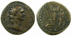 Ancient Coins - ROMAN.Domitian AD 81-96. AE.' Paduan' Cast 'sestertius' late 19th-20th cent. Reverse. GERMANIA CAPTA.