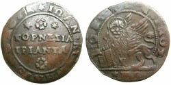 World Coins - CRETE under VENICE.Giovanni Corner 1625-1629.AE.30 Tornese ( 2 Soldi ).~~~VERY RARE~~~