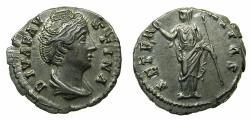 Ancient Coins - ROME.Diva Faustina Senior died AD 140/1, struck under Antoninus Pius AD 146-161.Reverse. Aeternitas or Juno.