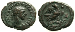 Ancient Coins - EGYPT.ALEXANDRIA.Aurelian AD 270-275.Billon Tetradrachm, struck AD 272/273.~#~.Eagle holding wreath